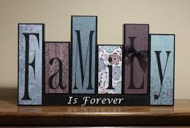 family letter sign home decor customized gift family
