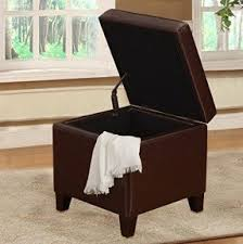 Square Leather Ottoman With Storage Square Leather Ottomans Foter