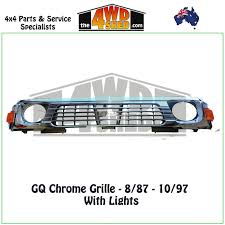 nissan patrol gq chrome grille 8 87 10 97 with lights