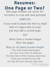 ideal resume length