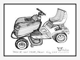 sketch of the day no 112 lawn mower in devon u2013 the crazy bag