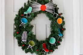 holiday craft ideas modern furniture embedded holiday wreath