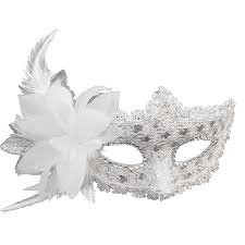 white masquerade masks for women coxeer masquerade mask for women mardi gras mask with flower