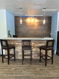 reclaimed barn wood stacked wall panels