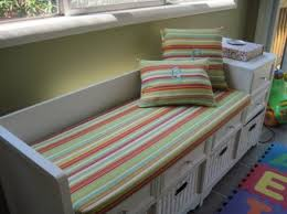amazing entryway bench cushion covers using striped seat pads for