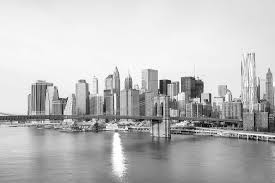 black and white new york landscape wall mural murals wallpaper