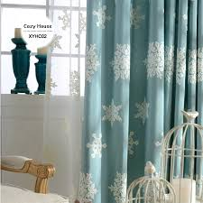 blackout curtains for living room blinds drapes snowflake