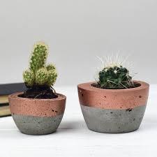 Planter Pot Colour Block Concrete Planter By Bells And Whistles Make
