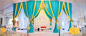 indian wedding mandap rental turquoise yellow fabric mandap for indian hindu wedding ceremony