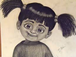 buy student art charcoal drawing boo monsters