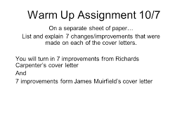 warm up 10 8 08 open all the example cover letters in the public l