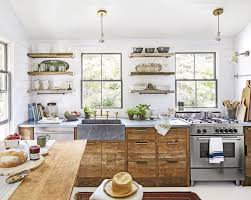 leaded glass kitchen cabinet doors sinks concrete farmhouse sink cottage style kitchen wood hanging