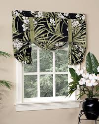 jamaican sunset lined tie up curtain pretty windows