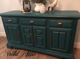 Cochrane Dining Room Furniture Dark Teal Solid Oak Buffet Sideboard Made By Cochrane Furniture