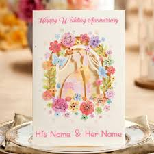 Wedding Wishes Online Editing Two Name Writing Wedding Card Wishes Pictures Edit Online