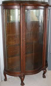 antique curio cabinets with claw feet roselawnlutheran