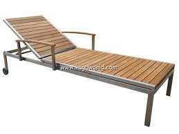 Teak And Stainless Steel Outdoor Furniture by Stainless Steel Teak Outdoor Lounge Chair Outdoor