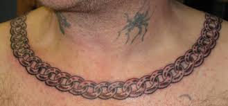 40 necklace tattoos ideas