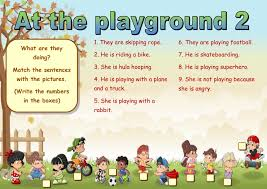 at the playground 2 interactive worksheet