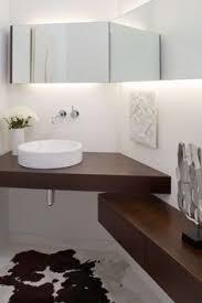 Small Corner Bathroom Vanity by The Xylem 37
