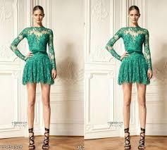 discount green zuhair murad cocktail party dresses 2015 short