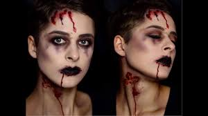 halloween makeup tutorial easy halloween makeup tutorial easy bloody zombie deutsch youtube