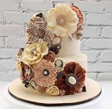 Chic Flower Cake Design Made Simple The Wedding Dress Cake Wedding Cake