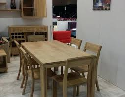 Solid Oak Dining Table And 6 Chairs Oak Dining Table Happyhippy Co