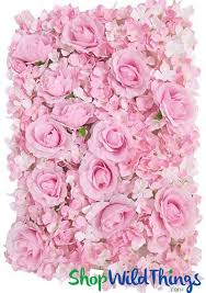 silk roses silk flower wall pink wall wedding backdrop shopwildthings