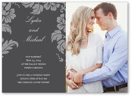 wedding announcements floret charcoal 5x7 photo card wedding announcements shutterfly