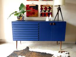 blue wood sideboard with a storied past u2014 stylemutt home