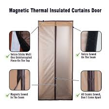 wish magnetic thermal insulated door curtain enjoy your warm