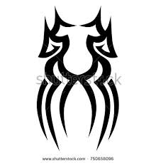 tribal tattoo art designs sketched simple stock vector 615621473