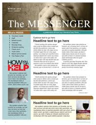 Free Church Newsletter Template free church newsletter template communication resources