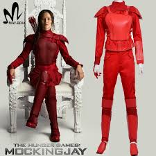 Halloween Costumes Katniss Hunger Games 3 Katniss Everdeen Cosplay Costume Red Leather