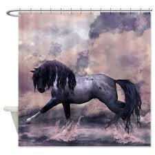 buy cafepress fantasy horse equine art shower curtain standard