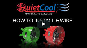 gable attic fan installation how to install quietcool attic gable fans on vimeo