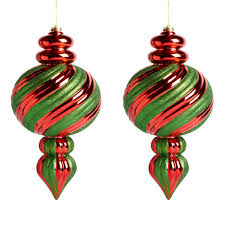 jumbo finial ornaments set of 2 tree shops andthat
