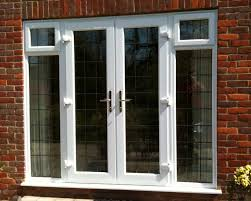 lovely exterior white wooden doors for your with patio