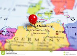 Germany On Map by Red Push Pin On Map Of Germany Stock Photo Image 47255057