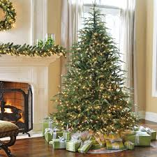artificial fraser fir christmas tree from brookstone u2014buy now