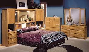 bedroom appealing golden oak wood bookcase wall unit headboard