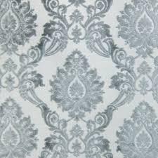 Green Velvet Upholstery Fabric Silver Cut Velvet Designer Upholstery Fabric Godiva