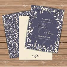 Text For Invitation Card Wedding Invitation Cards With Floral Elements On Wood Plank