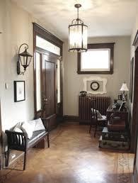 wall colour to match wood trim dark stained trim medium parquet