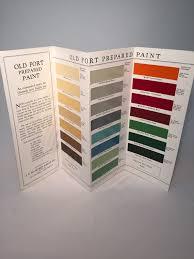 1930s paint color chart depression era paint color brochure