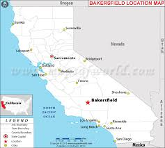 usa california map where is bakersfield located in california usa
