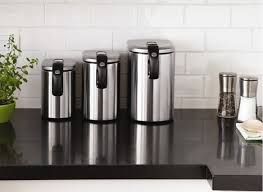 kitchen canister sets stainless steel stainless steel kitchen canisters