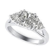 three stone engagement rings trillion three stone diamond engagement ring sku ra0403