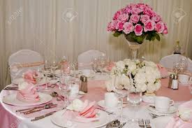 Table Setting Images by Banquet Table Setting For Wedding In China Stock Photo Picture